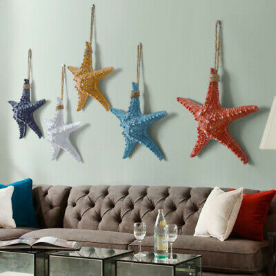 Nautical Style Starfish Resin Wall Hanging Ornaments For Kid's Bedroom Decor • 7.72£