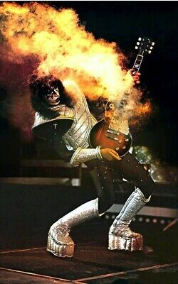 KISS Band Ace Frehley ALIVE II Era Poster Custom Stand-Up Display - Rock Music • 11.88£
