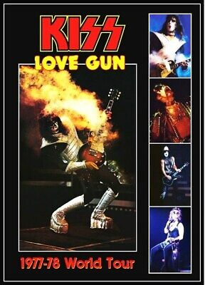 KISS Band Ace Frehley Love Gun 1977-78 Tour Custom Stand-Up Display - Rock Music • 11.88£