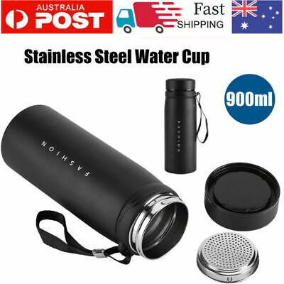 AU19.94 • Buy 900ML Stainless Steel Thermos Bottle Travel Drink Mug Flask Thermal Water  AU