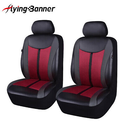 AU44.99 • Buy Car Seat Covers Leather Universal 2 Front Mesh Wine Auto Accessories Protectors