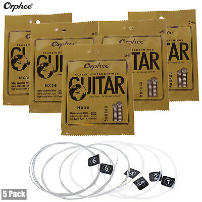 $ CDN20.04 • Buy 5 Packs Orphee Nylon Classical Guitar Strings Replacement(.028-.043) 6pcs/Pack