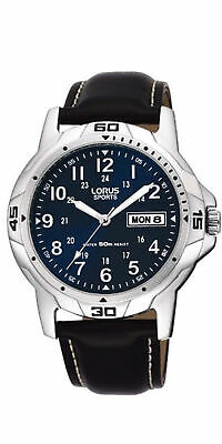 £24.99 • Buy Lorus Mens Watch With Blue Dial And Black Strap RXN51BX9