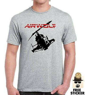 Airwolf T-shirt Helicopter Retro 80's Tv Show Mens Pilot Father Dad Gift Tee Top • 8.99£