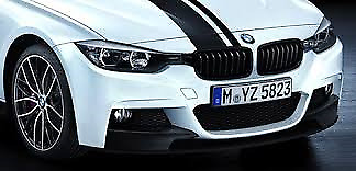 AU195 • Buy Black Kidney Grille Set Genuine BMW F30 M Performance 3 Series 51712240775