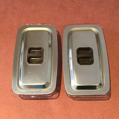2 X Hostess Trolley Glass Dishes & Stainless Steel Lids  Ekco, Phillips,..(S3) • 25£