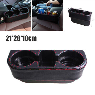$19.59 • Buy Universal Car PU Cup Holder Slot Storage Box Water Cup Holder Cell Phone Holder