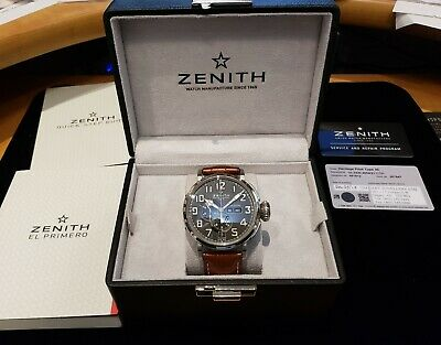 $6295.95 • Buy Zenith Pilot Type 20 Annual Calendar Chronograph Watch Stainless 03.2430.4054