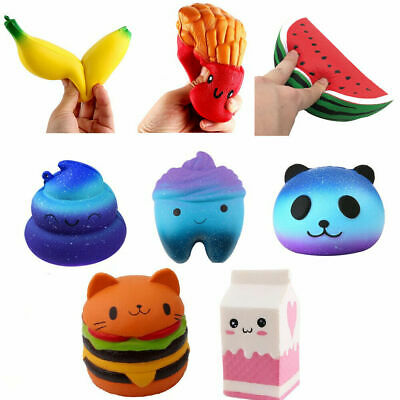 AU7.99 • Buy Jumbo Slow Rising Squishis Scented Squishe Squeeze Toy Stress Reliever GIFT