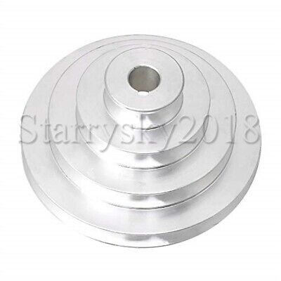 AU33.99 • Buy Aluminum 16mm Bore Dia 4 Step Belt Pulley For A Type V-belt Motor Shaft Drive