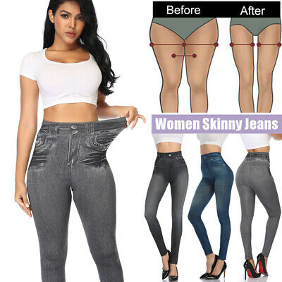 £13.19 • Buy Womens Skinny High Waisted Jeans Stretchy Denim Pants Jeggings Leggings Trousers
