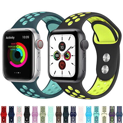 $ CDN4.80 • Buy 40/44mm 38/42mm Silicone IWatch Band Sports Strap For Apple Watch Series 5 4 3 2