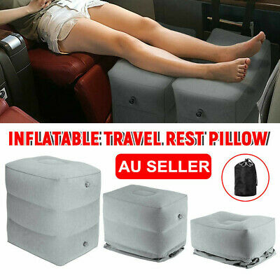 AU16.99 • Buy Travel Inflatable Foot Rest Air Pillow Cushion Office Car Leg Up Footrest Relax