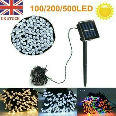 100-500 LED Solar/Battery Powered String Lights Fairy Lamp Outdoor Garden Party • 11.59£