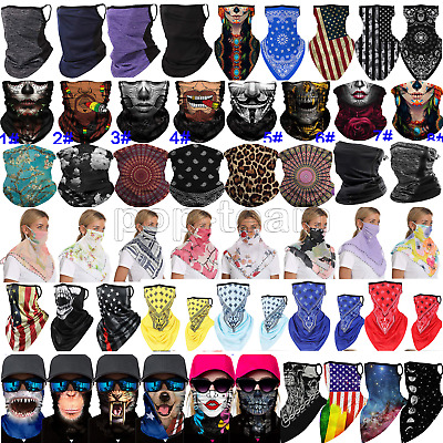 $9.99 • Buy Balaclava Head Neck Gaiter Tube Bandana Scarf Face Mask Cover Washable Reusable