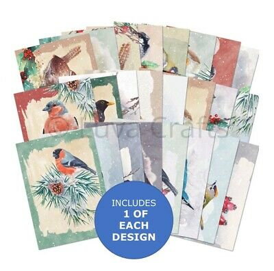 Hunkydory Christmas The Little Book Of Winter Birds Sample Pack 24 Pages X A6 • 2.99£
