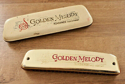 $49.97 • Buy Antique Harmonica IN Box Golden Melody M.HOHNER Made IN Germany