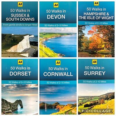 AA 50 Walks Devon Cornwall Lake District Norfolk Shropshire Yorkshire Dales  • 5.99£