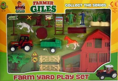 Farm Set Plastic Toy Play Set Animals Tractor Figures Childrens Gift 3+ New • 9.98£