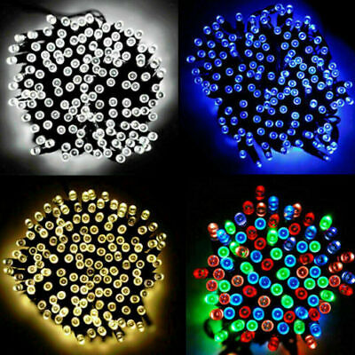 Waterproof String Fairy Lights 20-500 LED Solar Power Battery Outdoor Xmas Tree • 6.39£