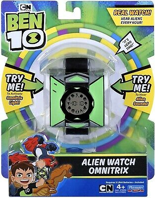 Ben 10 Omnitrix Alien Watch Real With Sounds Lights Aliens Every Hour Toy  • 26.59£