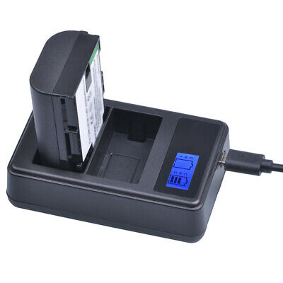 LP-E6 Battery LCD DUAL Charger For Canon EOS 5D Mark II III EOS 70D 7D 60 NYB • 6.79£