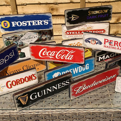 Wooden Bar Signs Mancave Drinks Shed Garage Wall Vintage Retro Wood Pub Sign UK • 9.99£