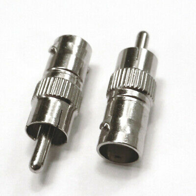 $ CDN20.33 • Buy BNC Female To RCA Male Coax Cable Adapter CCTV Security Video Cord Connector Lot