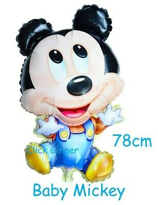 AU3.95 • Buy Mickey Mouse Baby Foil Balloon 78cm Helium Baby Shower 1st Birthday Decoration