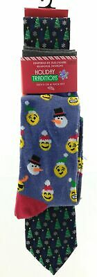 $12 • Buy Holiday Traditions Mens Tie And Sock Set Christmas Blue With Christmas Patterns