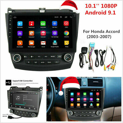 $179.78 • Buy 10.1'' Touch Screen Car Radio GPS Stereo For 2003-2007 Honda Accord Android 9.1