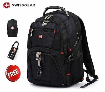 17  Original Waterproof Swiss Gear Men Travel Bags Macbook Laptop Hike Backpack • 19.99£