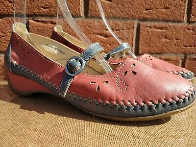 £16.99 • Buy Moshulu Colours Analise Womens Red Leather Mary Jane Comfort Shoes Size Uk 4