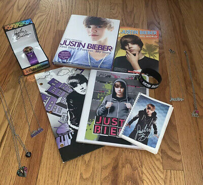 £21.09 • Buy Justin Bieber Folder, Notebook, Journal, Books, 4 Necklaces And Watch