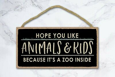 Hope You Like Animal And Kids Welcome Typography Wood Sign Wooden Wall Plaques • 11.43£