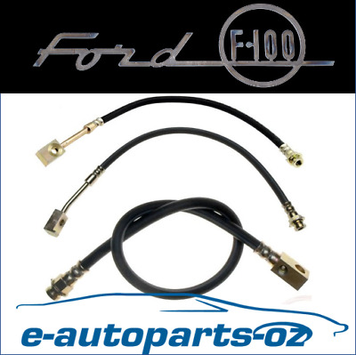 AU130 • Buy Ford F100 Bronco Front/Rear Brake Lines Hydraulic Hoses: 1974-1980 2WD Disc