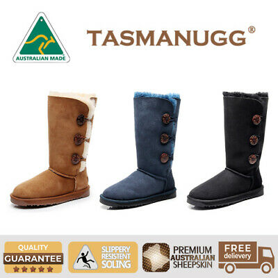 AU109 • Buy TASMAN-Tall Three Button Classic UGG Boots, Australian Made,Oz Sheepskin, 1873