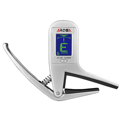 $ CDN19.25 • Buy Aroma AC-05 Clip-on Guitar Tuner & Capo 2-in-1 For Guitar Bass Exquisite P6I8