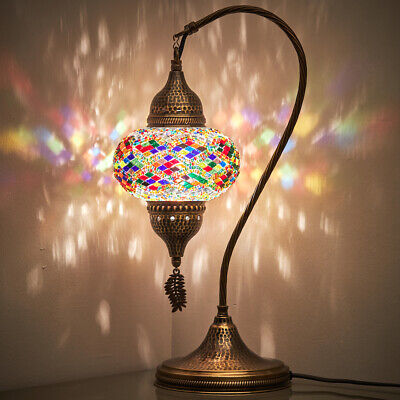 20 Turkish Moroccan Mosaic Bohemian Colorful Table Bedside Lamp Light Lampshade • 39.28£
