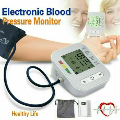 Portable Blood Pressure Monitor Upper Arm Digital BP Machine With Large Cuff NEW • 15.59£