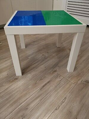 Lego Table Brand New Blue And Green Base Plate Organised Lego Play Set Up • 33£