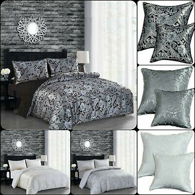 $ CDN52.82 • Buy Luxury 3 Piece CLEO Paisley Jacquard Duvet/Quilt Cover Bed Set + 2 Pillow Cover