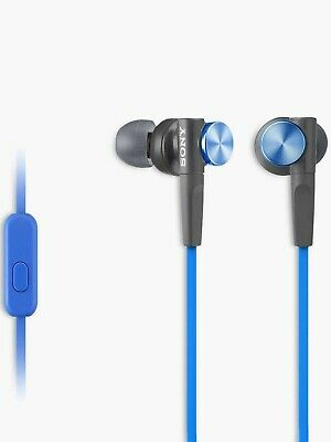 Sony MDR-XB50AP Extra Bass In-Ear Headphones With In-Line Control, Blue • 15.99£