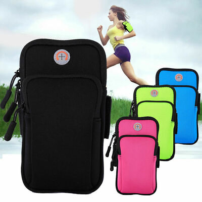AU15.91 • Buy 4 -6 Universal Sports Armband Running Gym Arm Band Pouch Bag Case For Cell Phone