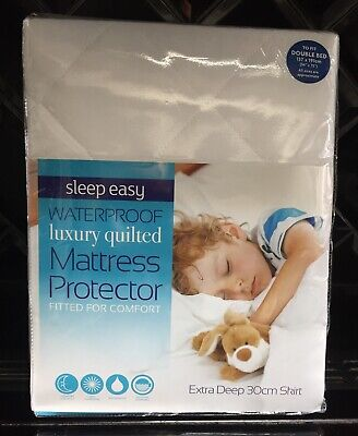 Sleep Easy Luxury Quilted Double Waterproof Anti Allergy Mattress Protector New • 13.99£