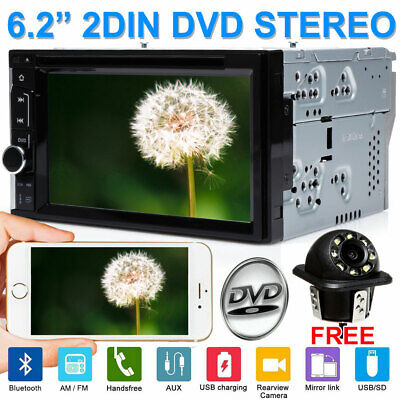 $154.11 • Buy Fit Nissan Altima Double 2 Din 6.2  Car Radio DVD Stereo Touchscreen Bluetooth