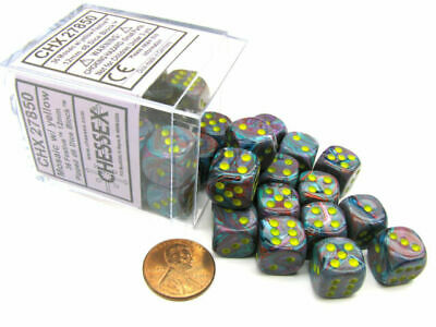 AU21.95 • Buy Chessex Dice Sets: Mosaic/Yellow Festive 12mm D6 (36)