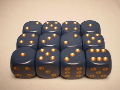 AU11.95 • Buy Chessex Dice Sets: Blue/Copper Dusty Opaque 16mm D6 (12)