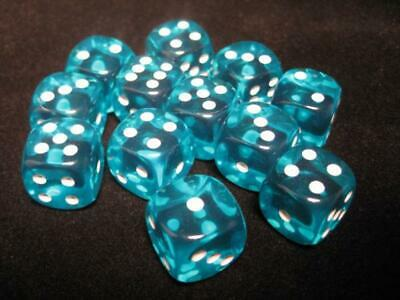 AU14.95 • Buy Chessex Dice Sets: Teal/White Translucent 16mm D6 (12)