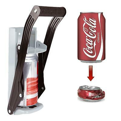 16oz 500ml Large Beer Tin Can Crusher Wall Mounted Recycling Tool Bottle Opener • 7.99£
